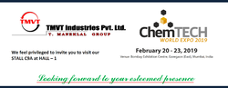 TMVT Industries Pvt. Ltd. invites you to ChemTECH WORLD EXPO 2019