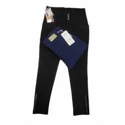 Button Black, Blue Casual Wear Ladies Designer Jeans