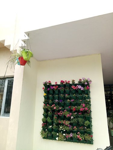 Planters Vertical Garden Green Panel 3 Frames 9 Pots at Rs 800 /per ...