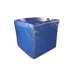 Blue Plain Tarpaulin Pallet Cover