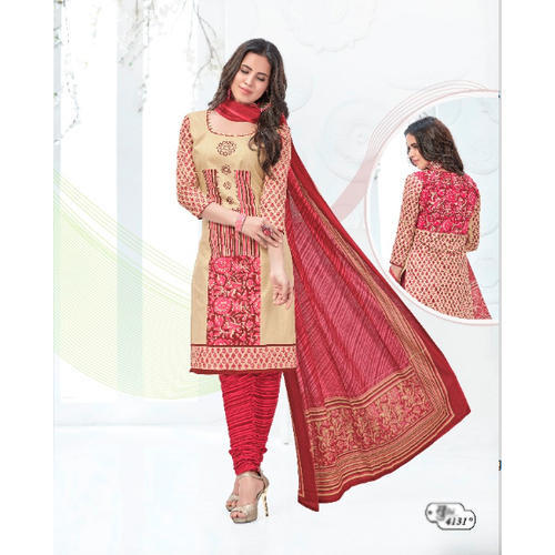 Cotton Fancy Churidar Suit Material