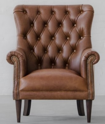 Vintage Tufted Leather Armchair, Leather Furniture
