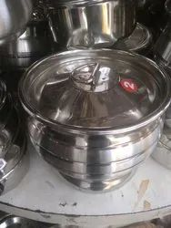 Mirror Finish Stainless Steel Food Pot, Size: 2 Inch ( Diameter), Capacity: 3 L