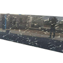 Polished Sky Black Granite Big Slab, Thickness: 5-10 Mm