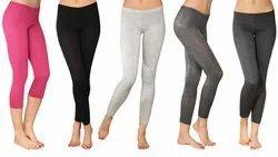 Plain Ladies Assorted Cotton Lycra Legging
