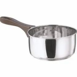 Silver Vinod Induction Friendly Stainless Steel Milk Pan, Capacity: 1.8 Litres