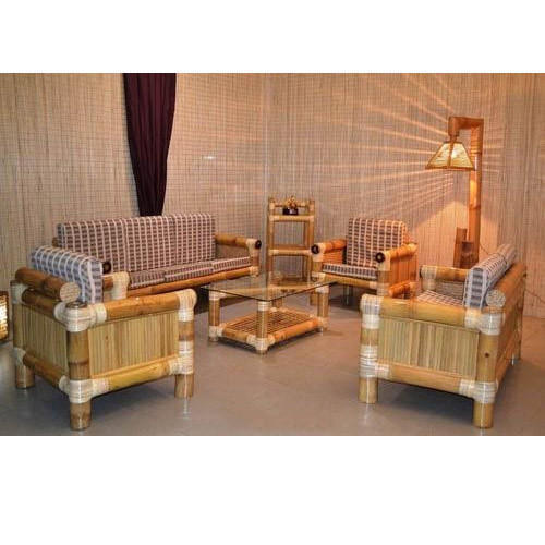 Bamboo living room home furniture at rs 1 set ghar ka furniture utsav for Bamboo living room furniture