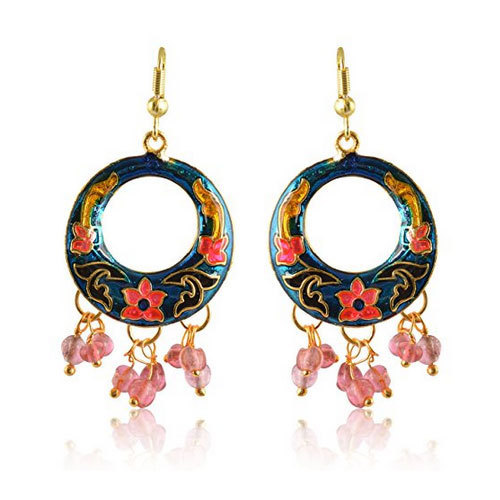 Multi Color Traditional Jaipur Meenakari Earrings