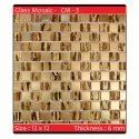 Evaio Gloss Glass Mosaic Tiles, Size: 12x12 Inch, Thickness: 6 - 8 Mm