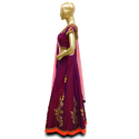 Party Wear Georgette Croptop Lehenga with Dupatta