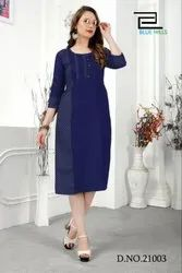 Denim Fancy Kurti Ladies Wear With Low Price