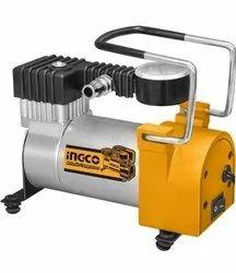 Steel 4-Wheeler Ingco Auto Air Compressor for car