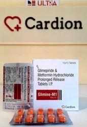 Glimepiride Ip 1mg  Metformin Hcl 500 Mg Sr Tablet
