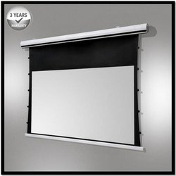 Tab Tensioned Motorized Projector Screen In Aluminium Casing HD/3D/4K Technology
