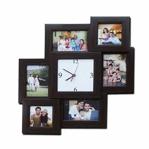 Black 6 Photo 4x6 Clock Frame Rs 1600 Piece Zestpics Id