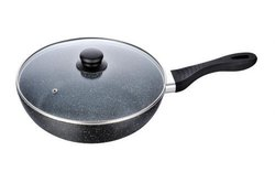 Akshat Industries Aluminium Fry Pan With Lid, For Kitchen
