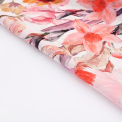 Casual Digital Printing Service For Chiffon Fabric, 5.5 m (separate blouse piece), Handloom Wooven