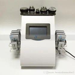 Fat Burning Machine Laser Lipo Pad Touch Screen 40K Ultrasonic Liposuction Vacuum Cavitation