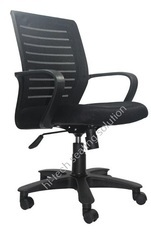 Low Back Black Mesh Chair