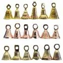Small Brass Temple Pooja Bells Of Different Sizes Customization Available