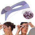 Slique Eyebrow Face And Body Epilator Hair Removal Tweezers System Kit System Kit--Slique