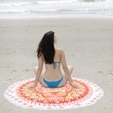 Round Printed Beach Throw Tapestry