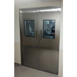 Hinged Stainless Steel Hospital Door, Size/Dimension: 5 X 7 Feet