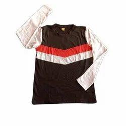 Cotton Mens Round Neck Full Sleeve T-Shirt, Size: S-XXL