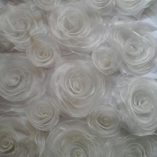White Rose Wedding Backdrop