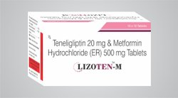 Teneligliptin 20mg,Metformin 500mg SR Bilayered Tablet