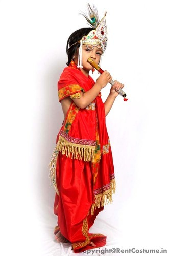 Boys Polyester Lord Krishna Mythological Fancy Dress Rs 500 Piece