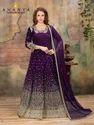 Classic Dark Purple Taffeta Silk-Net Salwar Kameez AFS138-56001
