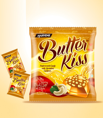 Butter Kiss Candy, Packaging: Packet