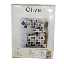 Sig Olive Printed Bed Sheet