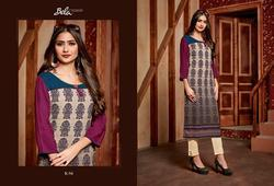 Bela Lifestyle Vol-4 Series K54-K62 Stylish Party Wear Rayon Kurti