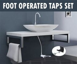 foot operated tap faucet
