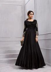 277ccb559 Saree Exotica Sethnic Vardan 153 Gown Colours In Black Silk with Dupatta