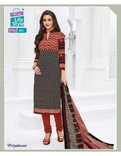 853b7cb403 Mcm Priyalaxmi Vol 10 Cotton Printed Unstitched Dress Materials at ...