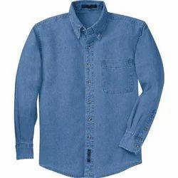 Mens Blue Denim Shirt