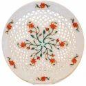 Marble Jaali Plate Inlay Work