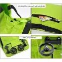 Trolley Traveling Vegetable Grocery Clothing Bag with Light