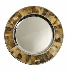 Designer Silver Charger Plate