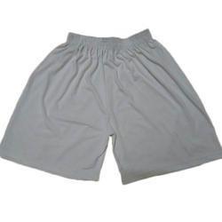Grey Plain Athletics Shorts, Size: Medium
