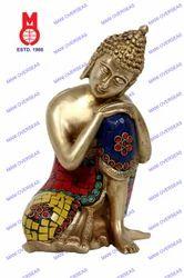 Lord Buddha Resting W/Stone Work Statue