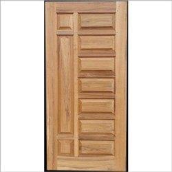 Solid Wood Polished Wooden Door, Brown