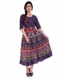Traditional Printed Jaipuri Frock