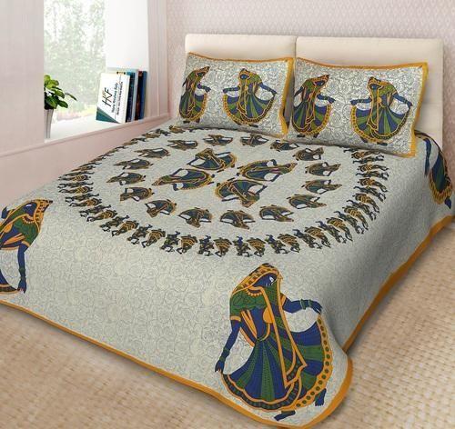 Hkfjaipur Jaipuri Pure Cotton Bedsheets