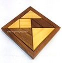 Tangram Puzzle Wooden Brainteaser Game