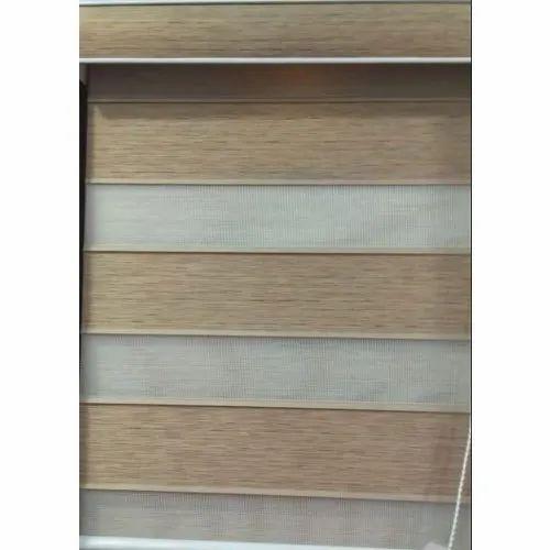Wooden Horizontal Zebra Blind