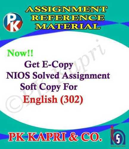 12th Online Nios Solved Assignment English 302 Nios Tma Solution 2018 19